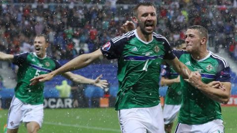 Northern Ireland's Gareth McAuley scored in a 2-0 win over Ukraine in Lyon