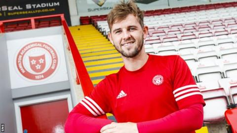 Hamilton Accies winger David Templeton