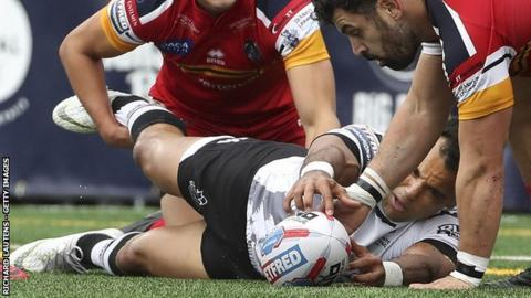 Mason Caton-Brown had a try disallowed for Toronto in the Million Pound Game against London Broncos in October