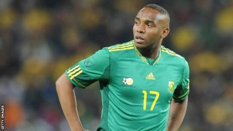 Benni McCarthy in his playing days for South Africa