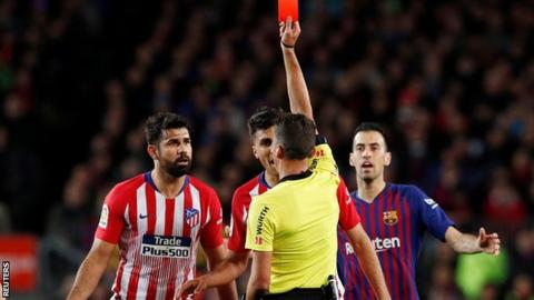 Costa banned for eight games for abusing referee