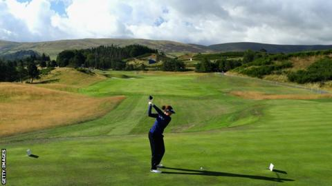 Georgia Hall, playing at Gleneagles in the 2018 European Championships, will be hoping to make an impact for Europe in the 2019 Solheim Cup