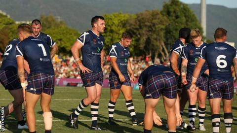 Scotland were hammered by Tonga in their tournament opener