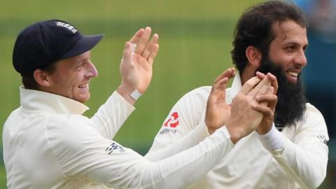 England celebrate against Sri Lanka
