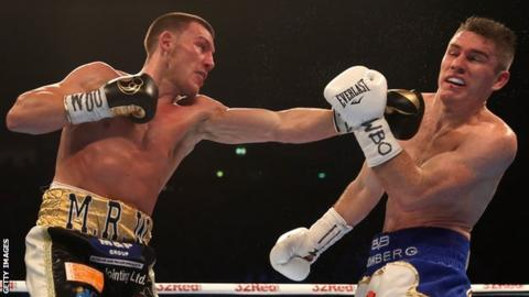 Liam Williams (left) lost to Liam Smith at Manchester Arena in April
