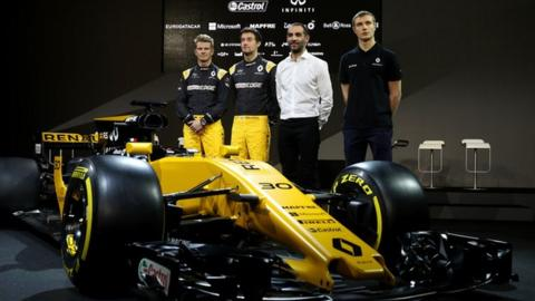 Renault F1 unveil their 2017 car