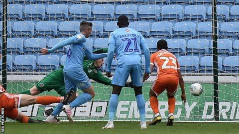 Jordan Shipley scored the final home goal of Coventry's season, which Sky Blues fans hope is not their last at the Ricoh Arena