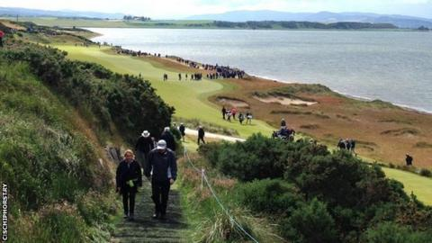 Spectators at the Aberdeen Asset Management- European Tour- Scottish Open at Castle Stuart