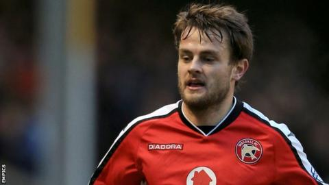Andy Taylor in action for Walsall