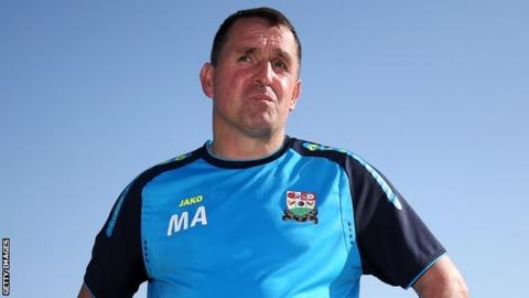 Martin Allen reacts to Barnet's relegation from League Two