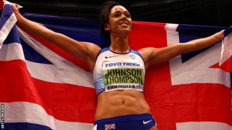 Johnson-Thompson won the 800m to secure the title