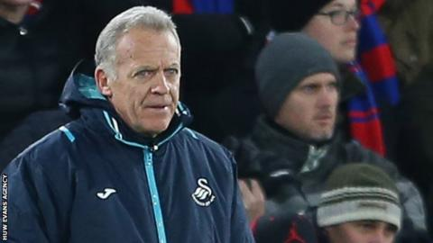 Alan Curtis watches Swansea play