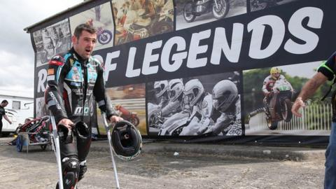 Michael Dunlop broke his pelvic in crash at the Southern 100 earlier this month