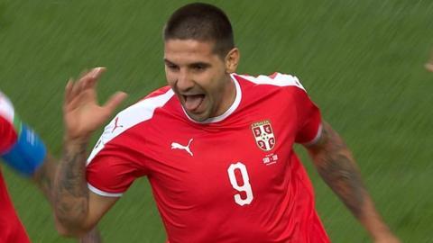 Mitrovic heads Serbia into the lead