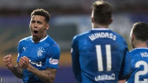 Rangers right-back James Tavernier celebrates