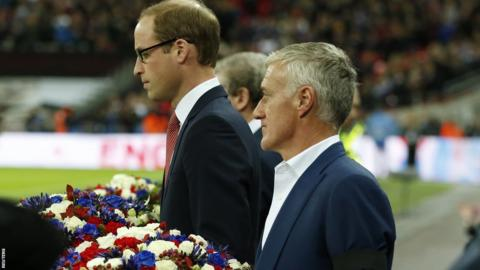 Prince William, Roy Hodgson and Didier Deschamps
