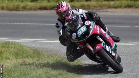Adam McLean earned podium finishes in the Supersport and Open races at Tandragee before his Supertwins crash