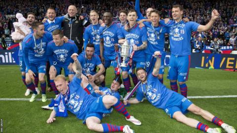 Inverness Caley Thistle won the Scottish Cup