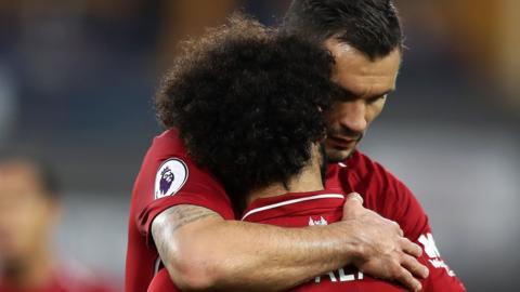 Mohamed Salah and Dejan Lovren