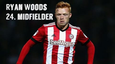 Brentford midfielder Ryan Woods