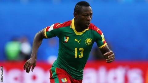 Cameroon forward Christian Bassogog