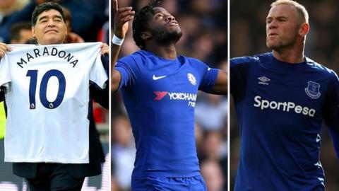Maradona, Batshuayi, Rooney