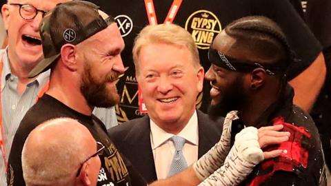 Tyson Fury, Frank warren and Denotay Wilder