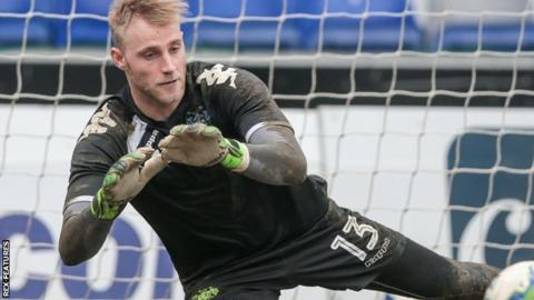 Rob Lainton made seven League One appearances for Bury in 2016-17, before one in League Two on loan to Cheltenham Town