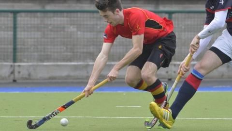 Jonny McKee put Banbridge ahead against Saint Germain at Havelock Park