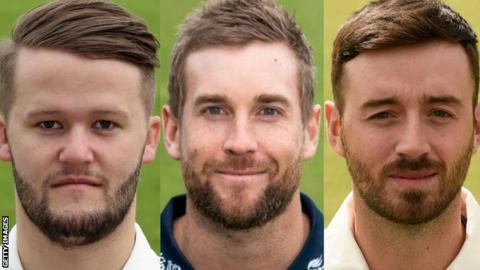 Ben Duckett (left), Dawid Malan (centre) and James Vince
