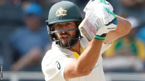 Joe Burns batting for Australia