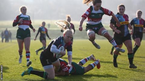 Heather Cowell in action for Harlequins