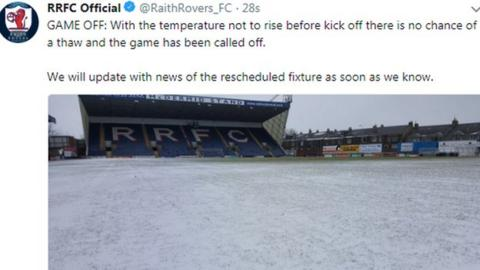 Raith Rovers broke the news on Twitter