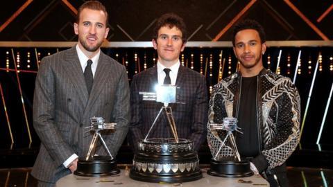 Harry Kane, Geraint Thomas and Lewis Hamilton