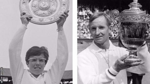 Billie Jean King and Rod Laver were the ladies' and men's Wimbledon champions in 1968