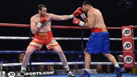 Boxer David Price fights Christian Hammer