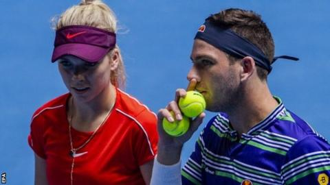 Katie Boulter and Cameron Norrie