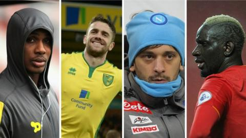 Odion Ighalo, Robbie Brady, Manolo Gabbiadini and Mamadou Sakho