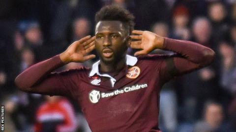 Isma Goncalves celebrates scoring for Hearts