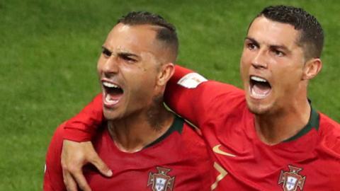 Ricardo Quaresma and Cristiano Ronaldo