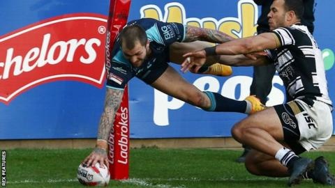 Luke Briscoe playing for Featherstone