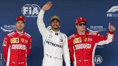 Sebastian Vettel, Lewis Hamilton, Kimi Raikkonen