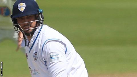 Billy Godleman made his first-class debut in the same match as Middlesex bowler Steven Finn