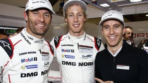 Mark Webber, Brendon Hartley and Timo Bernhard