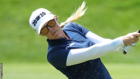 Stephanie Meadow fired a seven-birdie 67 at Galgorm Castle on Saturday
