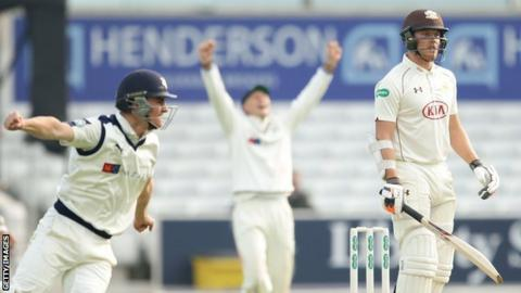 Yorkshire celebrate victory