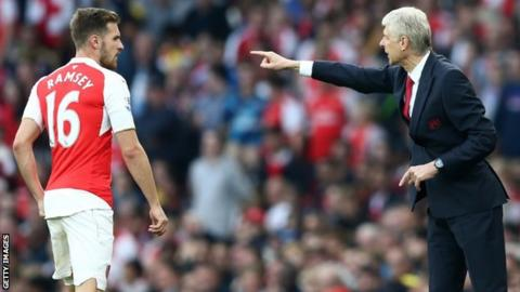 Aaron Ramsey and Arsene Wenger