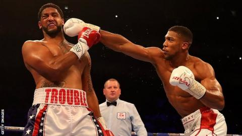 Anthony Joshua Knocks Out Dominic Breazeale In Round Seven Bbc Sport