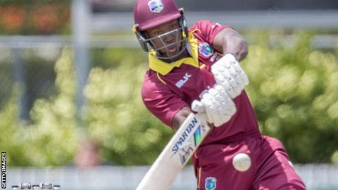 Rovman Powell's century helped the West Indies overcome Ireland in Harare