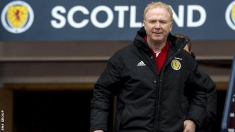 Scotland manager Alex McLeish at Hampden Park